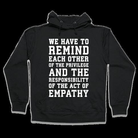 The Act of Empathy White Print Hooded Sweatshirt