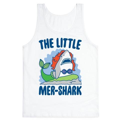 The Little Mer-Shark Parody Tank Top