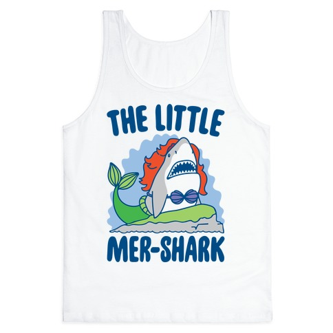 The Little Mer-Shark Parody Tank Top