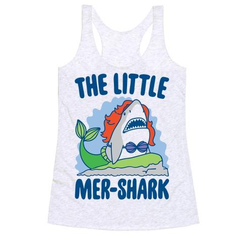 The Little Mer-Shark Parody Racerback Tank Top