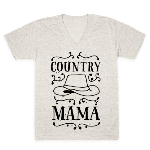 Country Mama V-Neck Tee Shirt