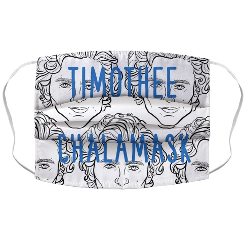 "Timothee Chalamet Mask ""Chalamask"" Face Mask Cover"