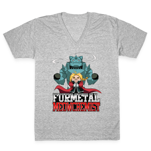 Furmetal Meowchemist V-Neck Tee Shirt
