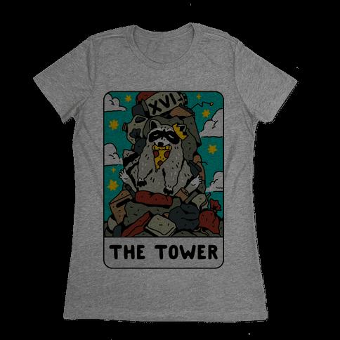 The Garbage Tower Tarot Womens T-Shirt