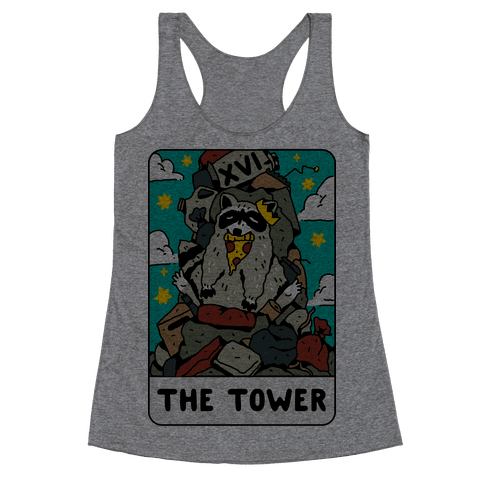 The Garbage Tower Tarot Racerback Tank Top