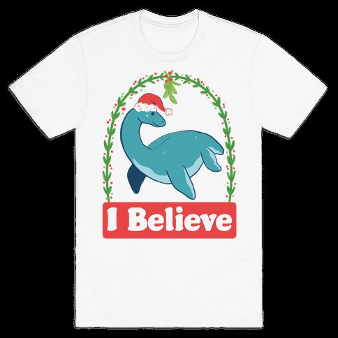 I Believe - Christmas Nessie  Mens T-Shirt