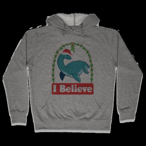 I Believe - Christmas Nessie  Hooded Sweatshirt