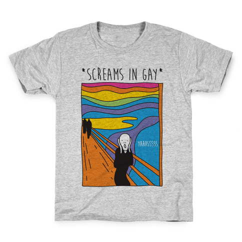 Screams In Gay Edvard Munch Parody Kids T-Shirt