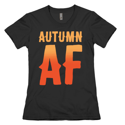 Autumn Af White Print Womens T-Shirt