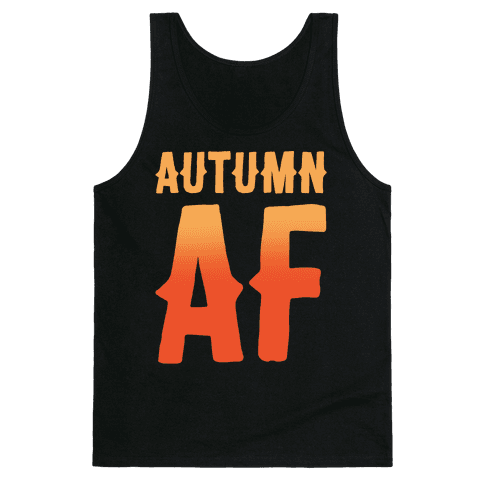 Autumn Af White Print Tank Top
