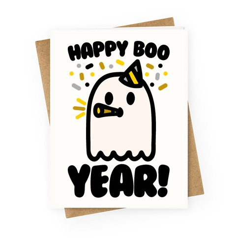 Happy Boo Year Greeting Card