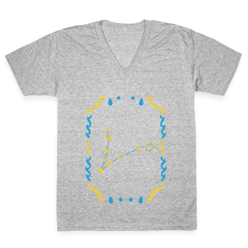Pisces Star Card V-Neck Tee Shirt