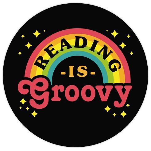 Reading is Groovy Die Cut Sticker