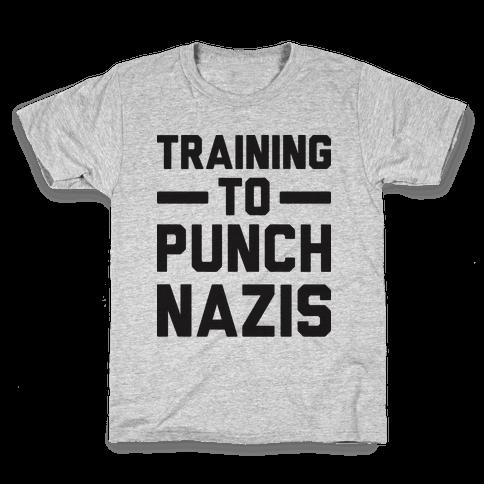Training To Punch Nazis Kids T-Shirt