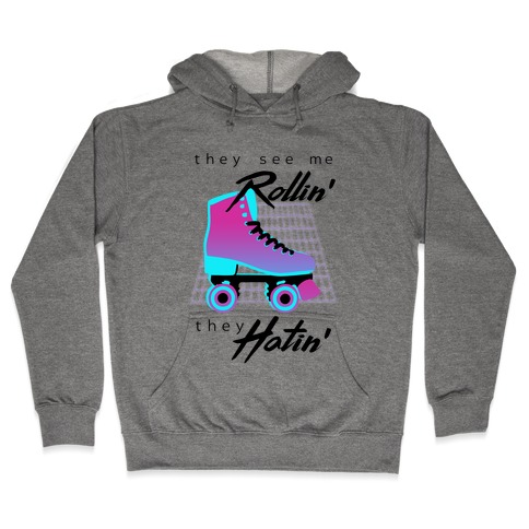 They See Me Rollin' (Synthwave) Hooded Sweatshirt