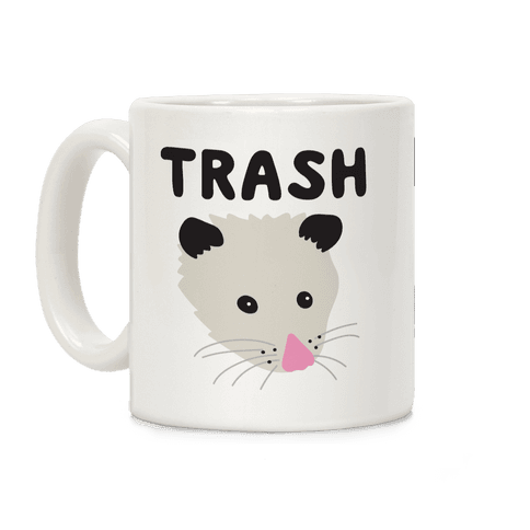 Trash Mates Opossum Raccoon Coffee Mug