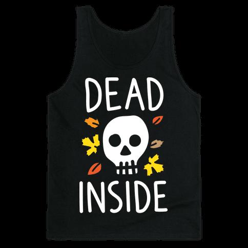 Dead Inside Autumn Skull (White) Tank Top