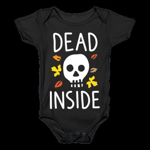 Dead Inside Autumn Skull (White) Baby Onesy
