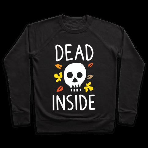 Dead Inside Autumn Skull (White) Pullover