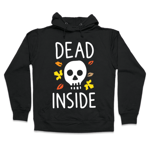 Dead Inside Autumn Skull (White) Hooded Sweatshirt