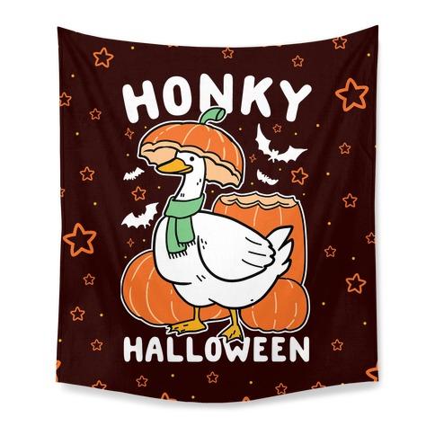 Honky Halloween Tapestry