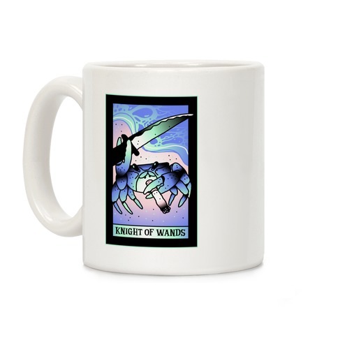 Knight Of Wands Smoking Crab Tarot Coffee Mug