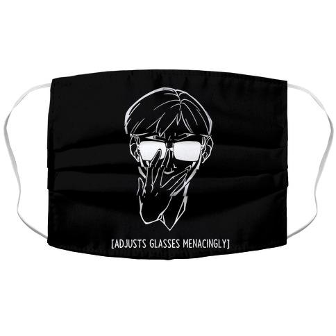 Adjusts Glasses Menacingly Accordion Face Mask