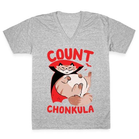 Count Chonkula V-Neck Tee Shirt
