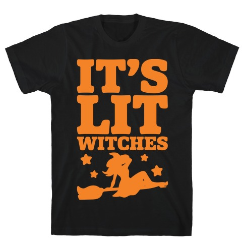 It's Lit Witches White Print T-Shirt