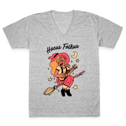 Hocus Folkus V-Neck Tee Shirt