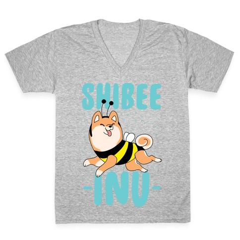 Shibee Inu V-Neck Tee Shirt