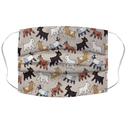 Baby Goats On Baby Goats Pattern Face Mask Cover
