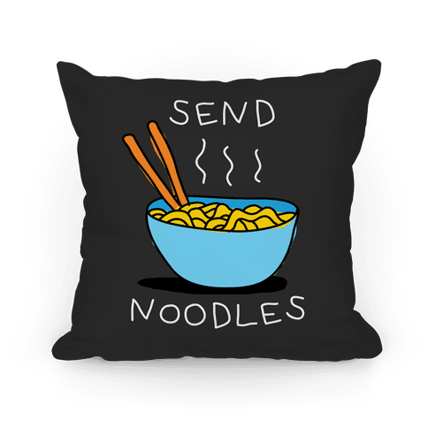 Send Noodles Pillow