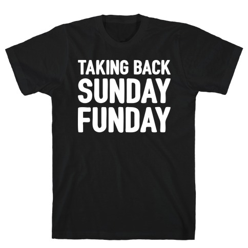 Taking Back Sunday Funday Parody White Print T-Shirt