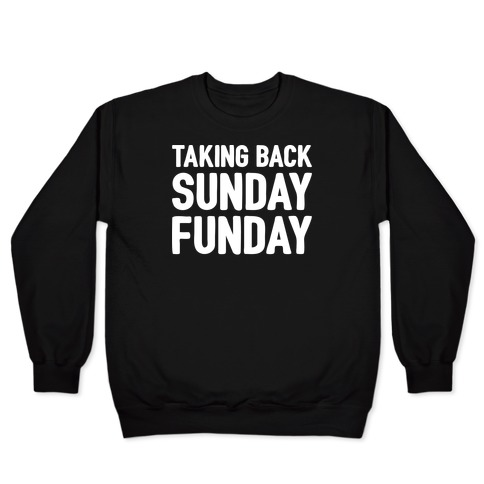 Taking Back Sunday Funday Parody White Print Pullover