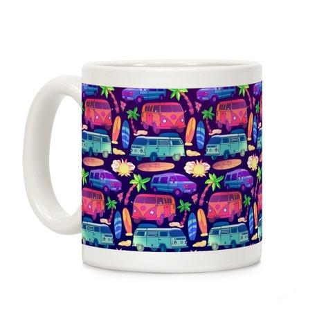 Beachy Van Life Pattern Coffee Mug