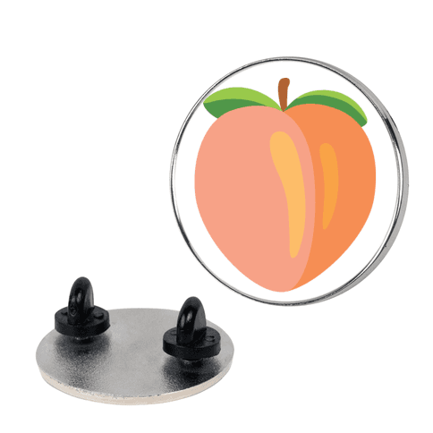 Eggplant/Peach Pair (Peach) pin