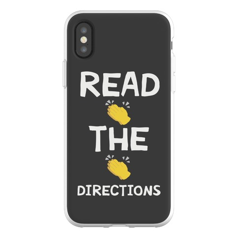 Read The Directions Clap Emoji Phone Flexi-Case