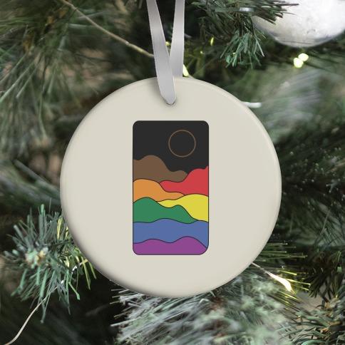 Groovy Pride Flag Landscapes: Pride Flag Ornament