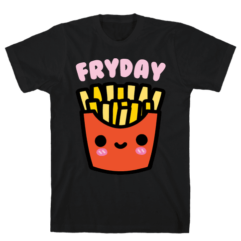 Fryday White Print Mens T-Shirt