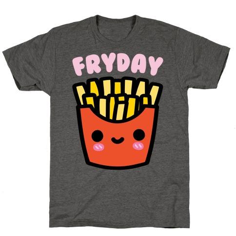 Fryday White Print T-Shirt