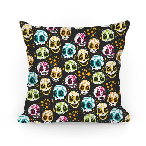 Day Of The Dead Skulls Pillow