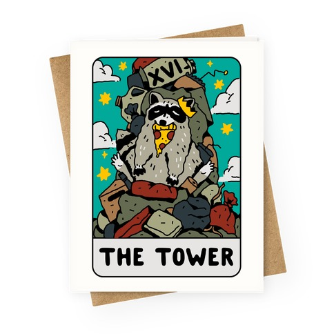 The Garbage Tower Tarot Greeting Card
