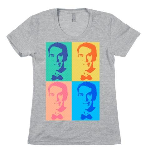 Pop Art Bill Nye Womens T-Shirt