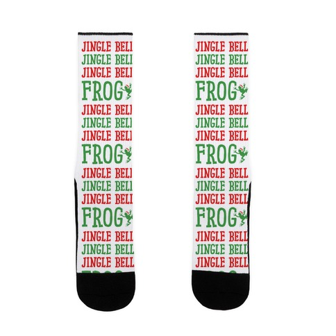 Jingle Bell Frog Sock