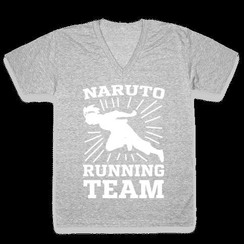 Naruto Running Team V-Neck Tee Shirt