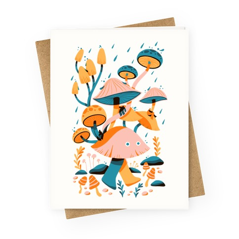 Mushroom Forest Spirits Greeting Card