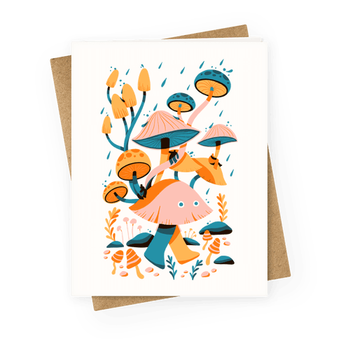 Mushroom Forest Spirits Greeting Card