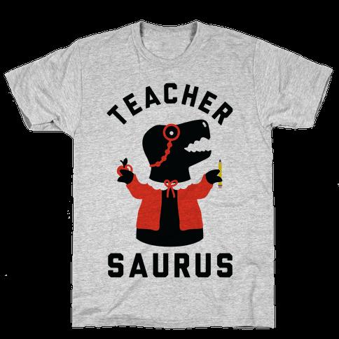 Teacher Saurus cardigan Mens T-Shirt