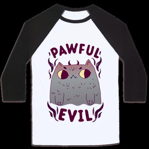 Pawful Evil Baseball Tee
